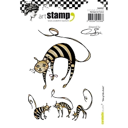 Carabelle Studio - Cling Stamp Set - Des p'tits chat (little cats)