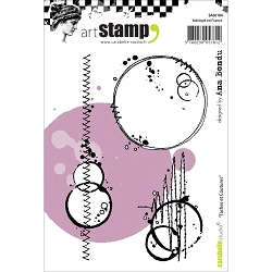 Carabelle Studio - Cling Stamp Set - Taches et Coutures (Stains & Stitches)