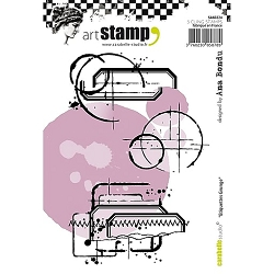 Carabelle Studio - Cling Stamp Set - Etiquettes Grunge (Grunges Labels) :)