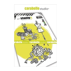 Carabelle Studio - Cling Stamp Set - Du Fils et des Idées (Thread & Ideas)