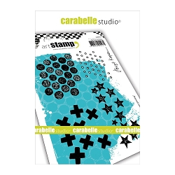 Carabelle Studio - Cling Stamp Set - Textures Printing