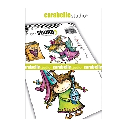 Carabelle Studio - Cling Stamp Set - 2 Fées Magie de L'Amour (2 magic love fairies)