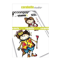 Carabelle Studio - Cling Stamp Set - Roi et Reine de Mon Coeur (king & Queen of my heart)