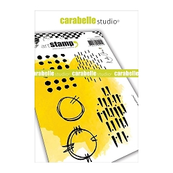 Carabelle Studio - Cling Stamp Set - Grungy Patterns