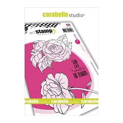 Carabelle Studio - Cling Stamp Set - Stop & Smell The Flowers