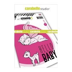 Carabelle Studio - Cling Stamp Set - Hello Baby
