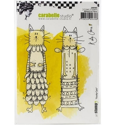 Carabelle Studio - Cling Stamp - Kooky Cats by Kate Crane