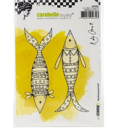 Carabelle Studio - Cling Stamp - Well Dressed Fish by Kate Crane