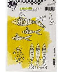 Carabelle Studio - Cling Stamp - Keep Swimming by Kate Crane