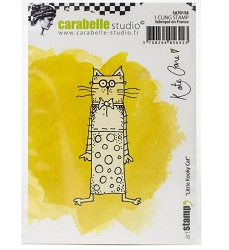 Carabelle Studio - Cling Stamp - Little Kooky Cat By Kate Crane