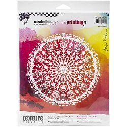 Carabelle Studio - Round Unmounted Art Printing Stamp - Floral Rosette