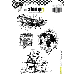 Carabelle Studio - Cling Stamp Set - Partir en Voyage (To Travel)