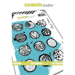 Carabelle Studio - Cling Stamp - Circles Collage
