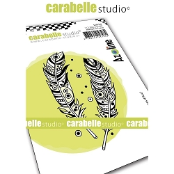 Carabelle Studio - Cling Stamp - Plumes d'Azo  (Azo's Feathers)