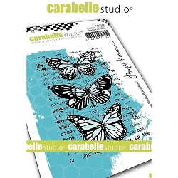 Carabelle Studio - Cling Stamp - Mixed Media Butterflies