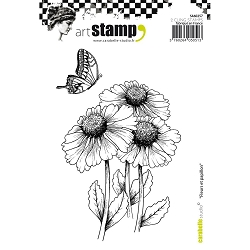 Carabelle Studio - Cling Stamp Set - Fleurs et Papillon (Flowers and Butterfly)