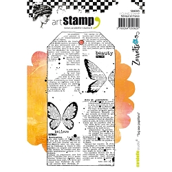 Carabelle Studio - Cling Stamp Set - Tag aux Papillons (Butterfly Tag)