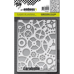 Carabelle Studio - Embossing Folder - Rouages (gears)