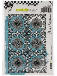 Carabelle Studio - Cling Stamp - Blooms & Circles Pattern