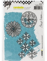 Carabelle Studio - Cling Stamp - Blooms & Circles Elements