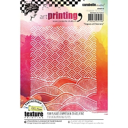 Carabelle Studio - Unmounted Art Printing Stamp - Vagues et Chevrons (waves & chevrons)