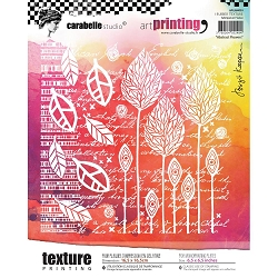 Carabelle Studio - Unmounted Art Printing Stamp - Abstract Flowers