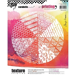 Carabelle Studio - Unmounted Art Printing Stamp - Textured Disc