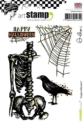 Carabelle Studio - Cling Stamp Set - Happy Halloween