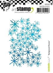 Carabelle Studio - Cling Stamp Set - Background Flocons (Snowflakes)