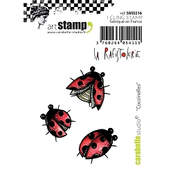 Carabelle Studio - Cling Stamp Set - Coccinelles (ladybugs)