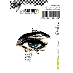 Carabelle Studio - Cling Stamp Set - L'Oeil (the Eye)
