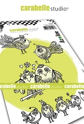 Carabelle Studio - Cling Stamp - Zoziaux rigolos