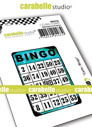 Carabelle Studio - Cling Stamp - Carte: Bingo