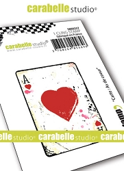 Carabelle Studio - Cling Stamp - Carte: As de cœur