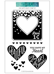 Concord & 9th - Clear Stamp - Sew Happy Hearts
