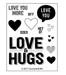 Concord & 9th - Clear Stamp - Love & Hugs
