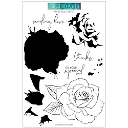Concord & 9th - Clear Stamp - Painted Rose