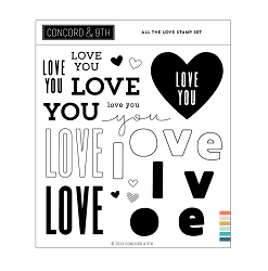 Concord & 9th - Clear Stamp - All the Love