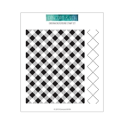 Concord & 9th - Clear Stamp - Gingham Background