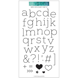 Concord & 9th - Clear Stamp - Simple Serif Alphabet