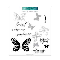 Concord & 9th - Clear Stamp - Butterfly Love  Turnabout™