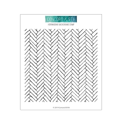 Concord & 9th - Clear Stamp - Herringbone Background