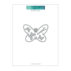 Concord & 9th - Clear Stamp - Butterfly Love dies