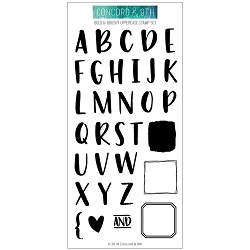 Concord & 9th - Clear Stamp - Bold & Brushy Uppercase