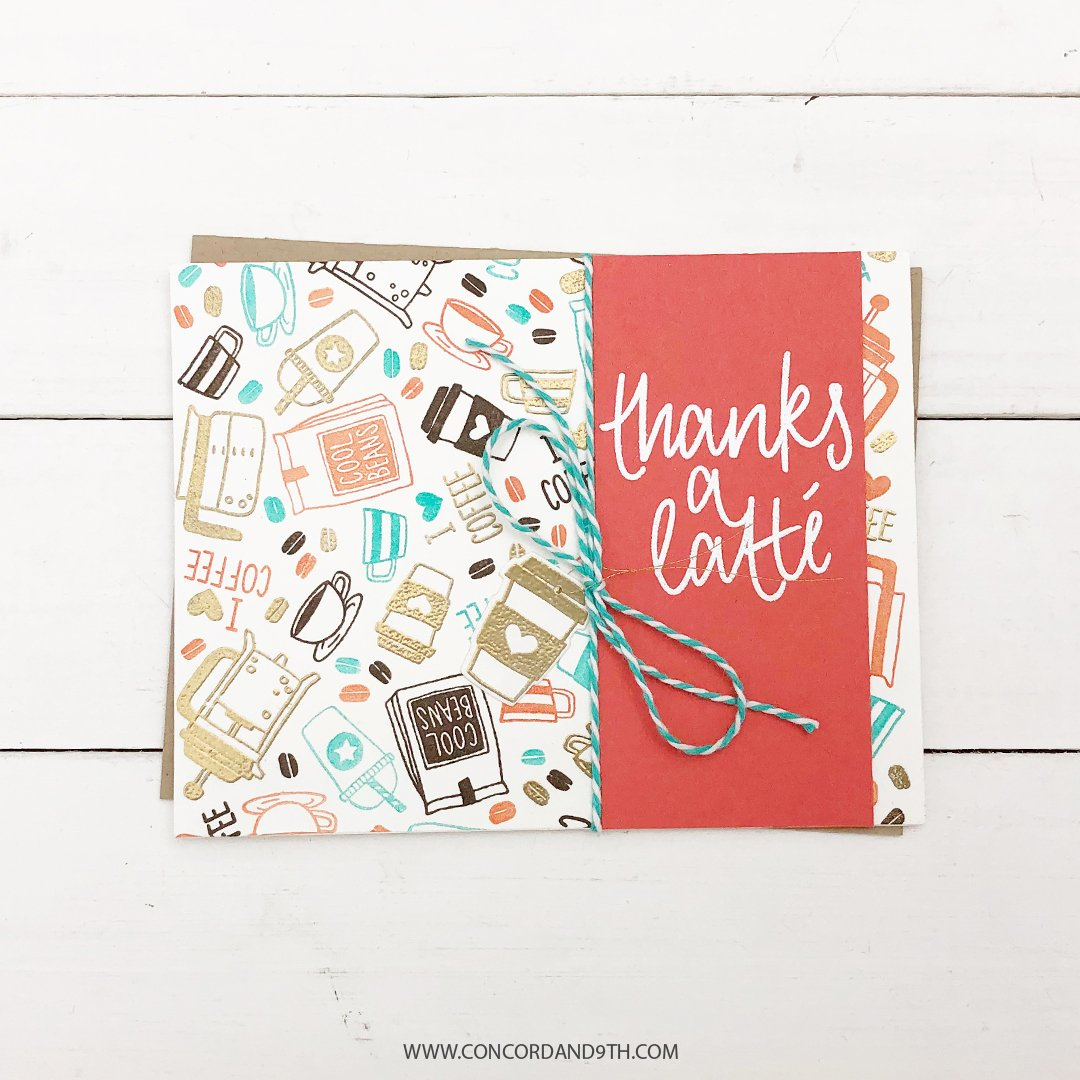 """Concord /& 9th Clear Stamps 6/""""X6/""""-Many Thanks Turnabout"""