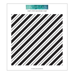 Concord & 9th - Clear Stamp - Candy Stripe Background