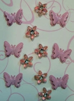 Butterfly brads & Flower mix