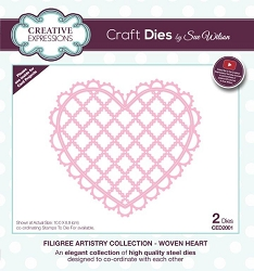 Sue Wilson Designs - Die - Filigree Artistry Collection - Woven Heart