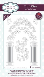 Sue Wilson Designs - Die - Special Occasion Collection - Wedding Arch and Columns