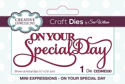 Sue Wilson Designs - Die - Mini Expressions - On Your Special Day